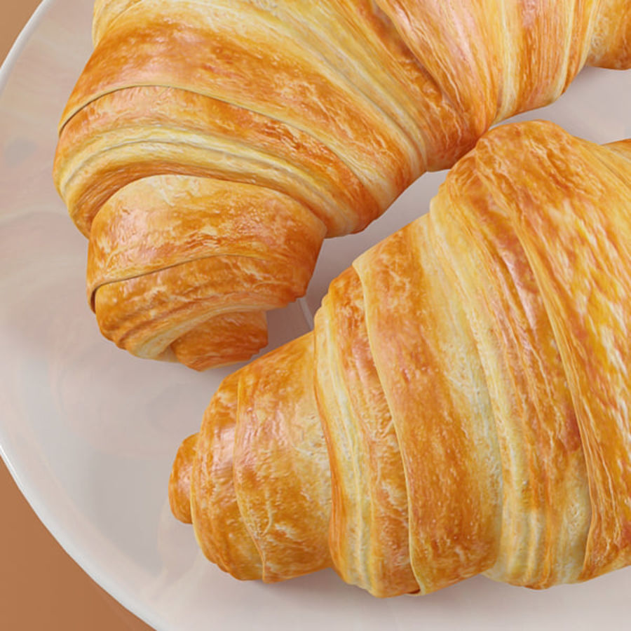 Croissant 4 royalty-free modelo 3d - Preview no. 9