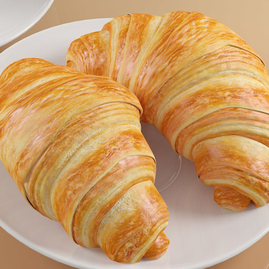 Croissant 4 royalty-free modelo 3d - Preview no. 5