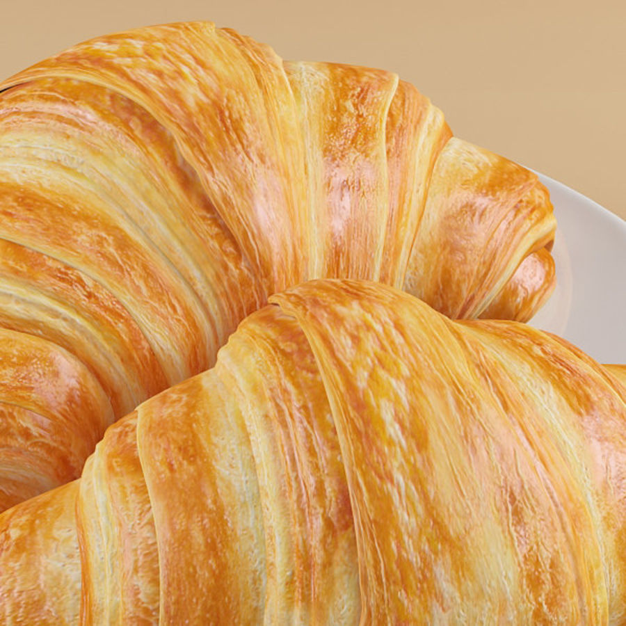 Croissant 4 royalty-free modelo 3d - Preview no. 6