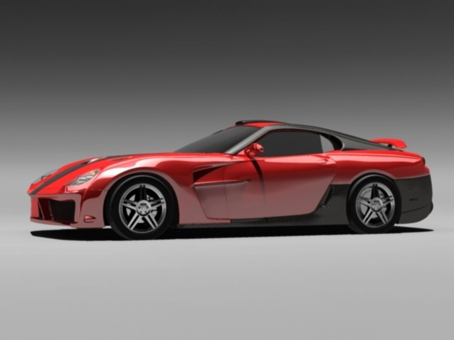 прототип автомобиля royalty-free 3d model - Preview no. 3