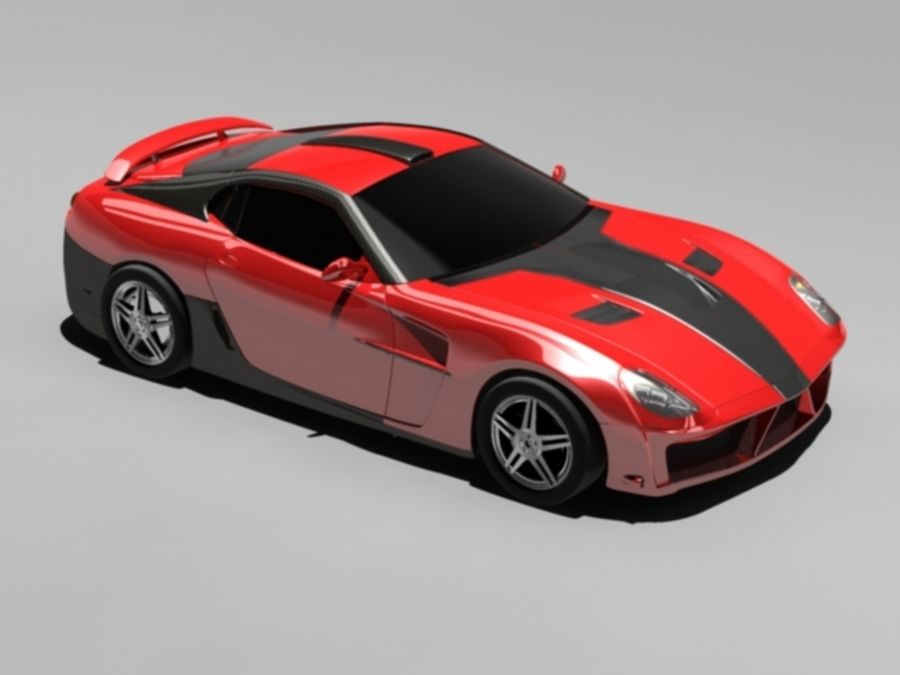 прототип автомобиля royalty-free 3d model - Preview no. 9