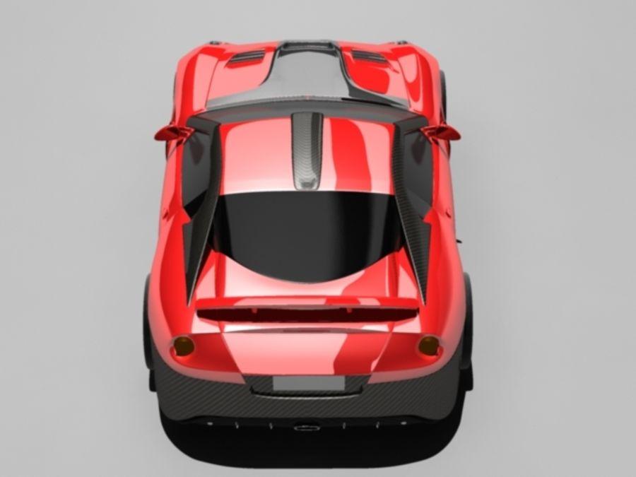 прототип автомобиля royalty-free 3d model - Preview no. 2