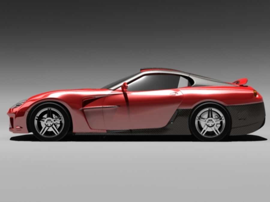 прототип автомобиля royalty-free 3d model - Preview no. 5