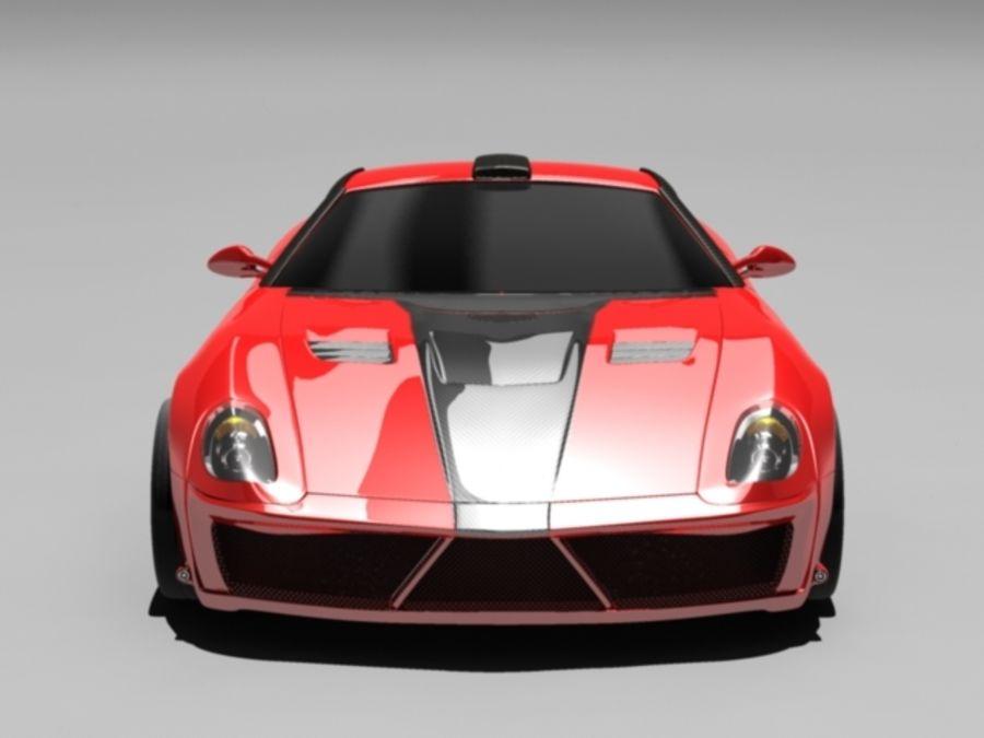 прототип автомобиля royalty-free 3d model - Preview no. 1