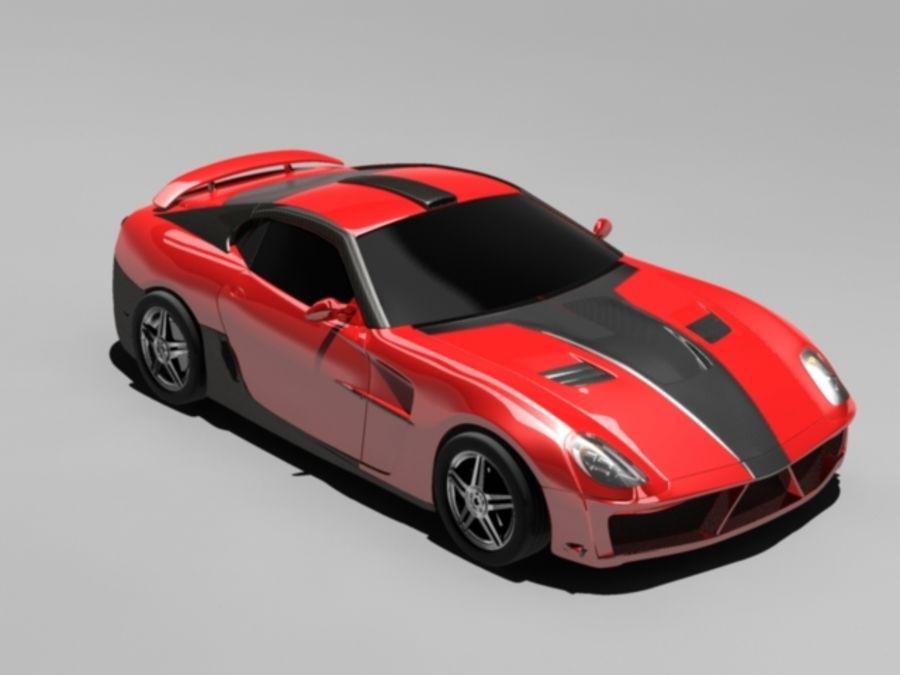 прототип автомобиля royalty-free 3d model - Preview no. 8