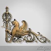 Escudo De Armas 1 Perro modelo 3d