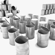 Nieuwe Clean Shiny Tin Cans-collectie 3d model