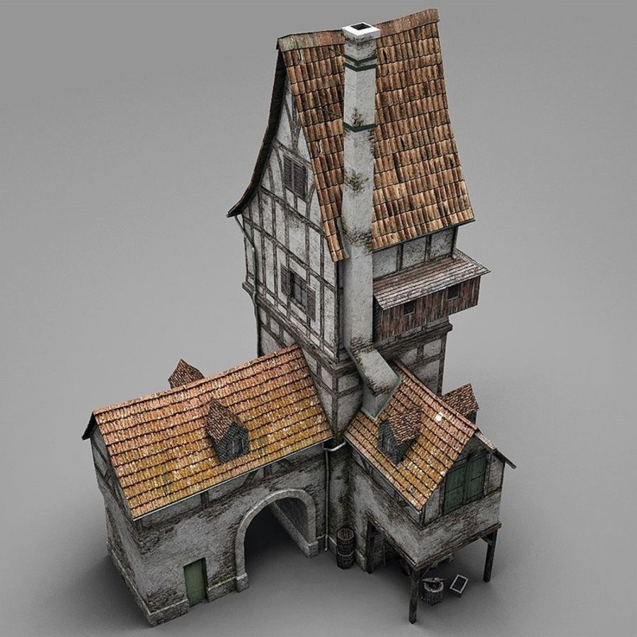 Old Blacksmiths House royalty-free 3d model - Preview no. 6