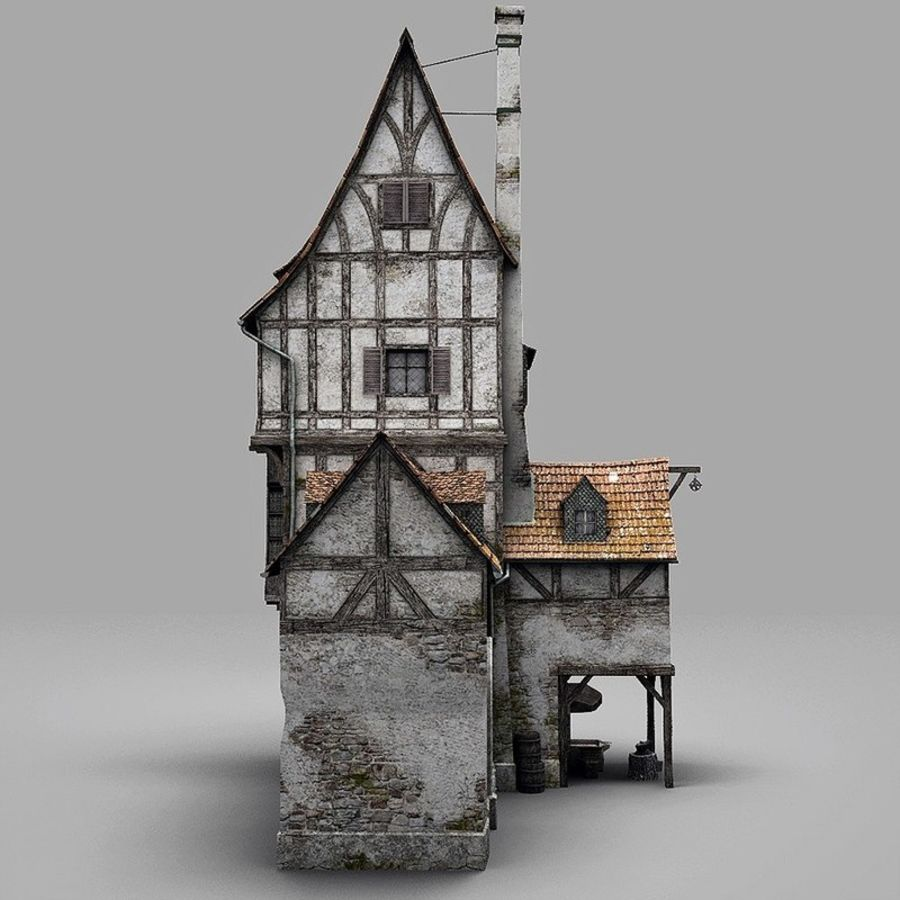 Old Blacksmiths House royalty-free 3d model - Preview no. 8