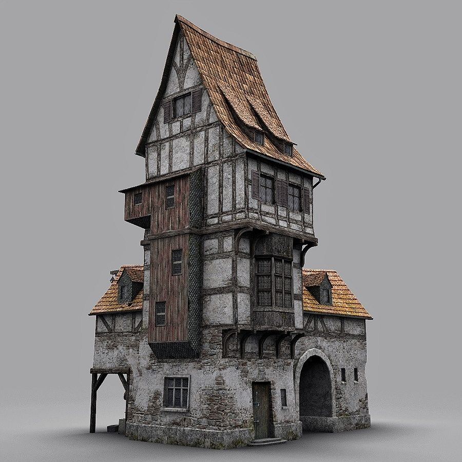 Old Blacksmiths House royalty-free 3d model - Preview no. 5