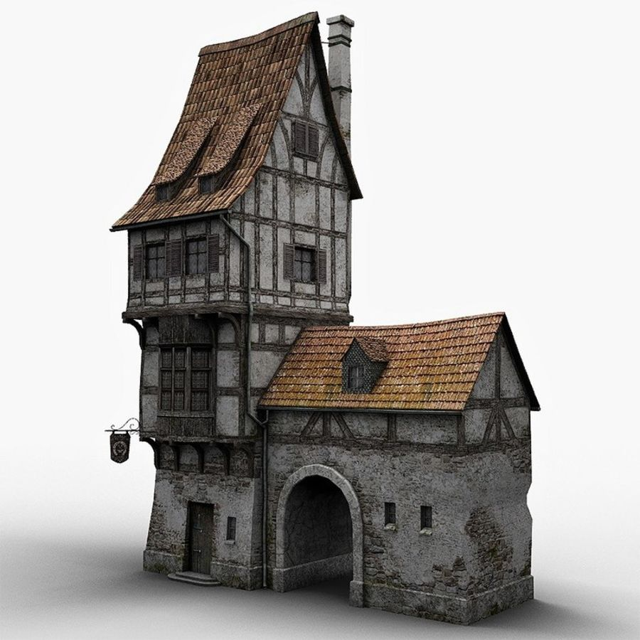 Old Blacksmiths House royalty-free 3d model - Preview no. 2