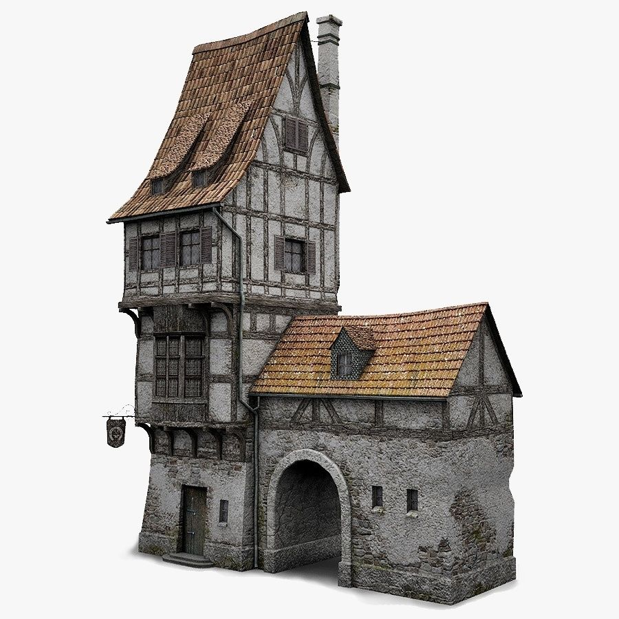 Old Blacksmiths House royalty-free 3d model - Preview no. 1