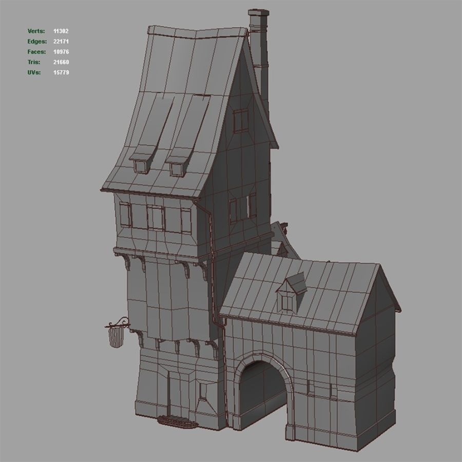 Old Blacksmiths House royalty-free 3d model - Preview no. 14
