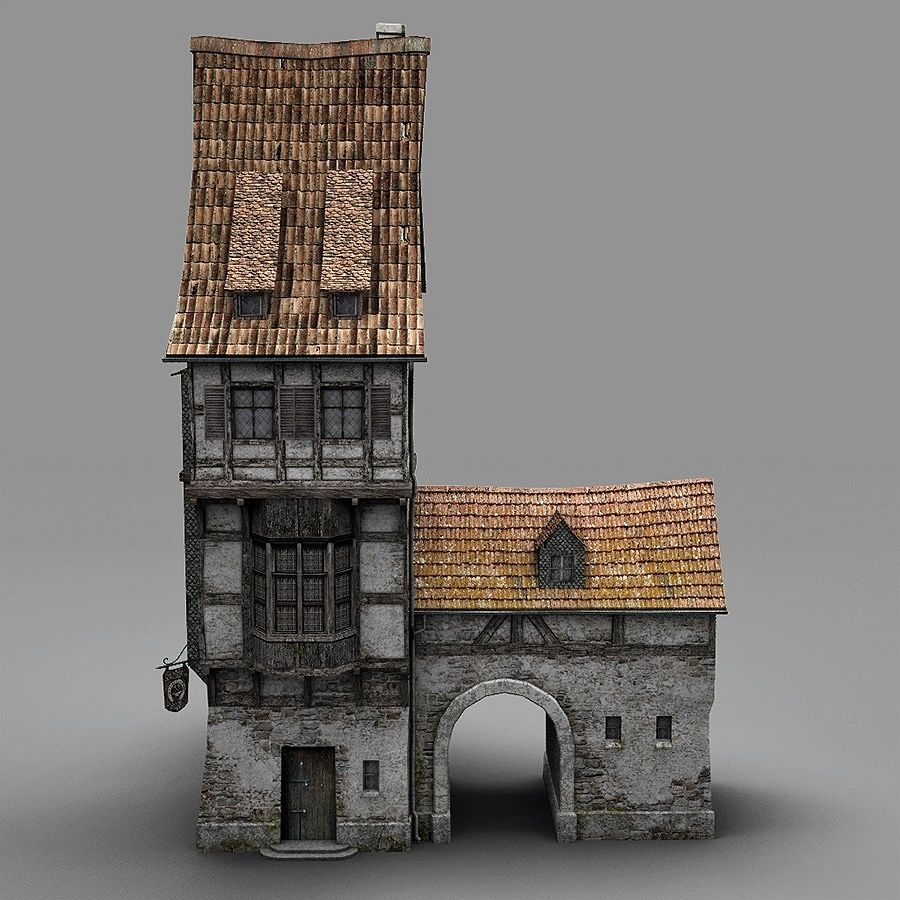 Old Blacksmiths House royalty-free 3d model - Preview no. 7