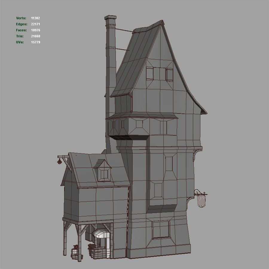 Old Blacksmiths House royalty-free 3d model - Preview no. 16