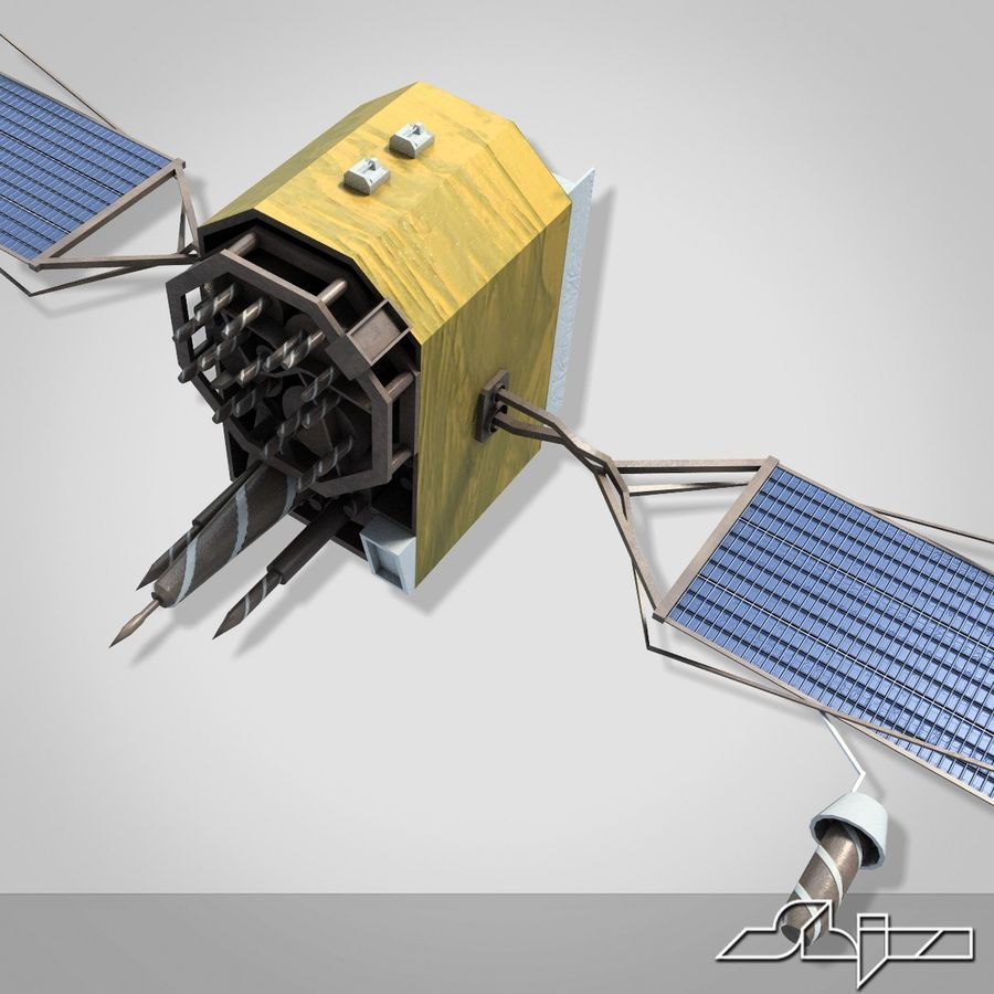 Satellite 2 royalty-free 3d model - Preview no. 6