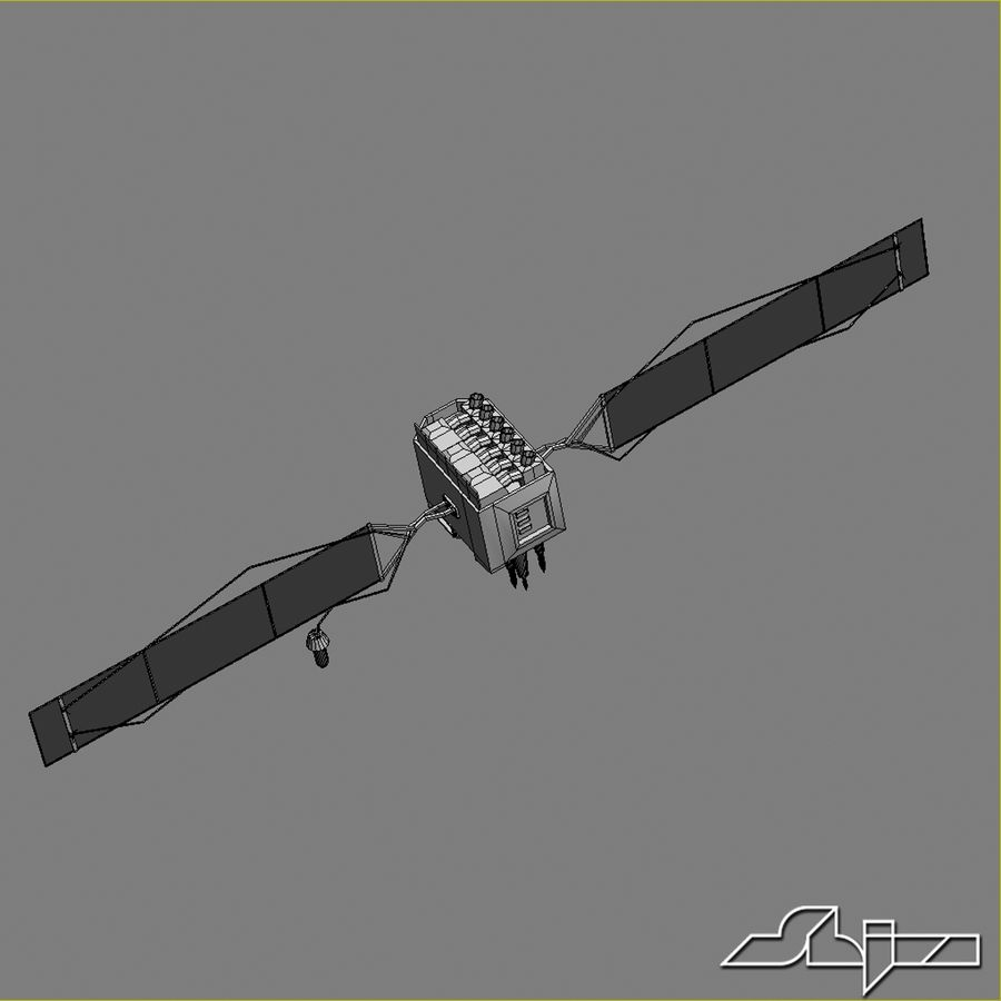 Satellite 2 royalty-free 3d model - Preview no. 9