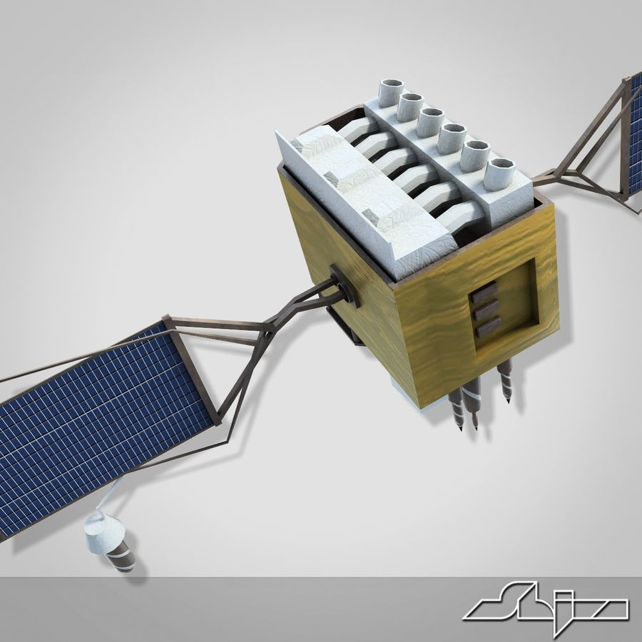Satellite 2 royalty-free 3d model - Preview no. 7