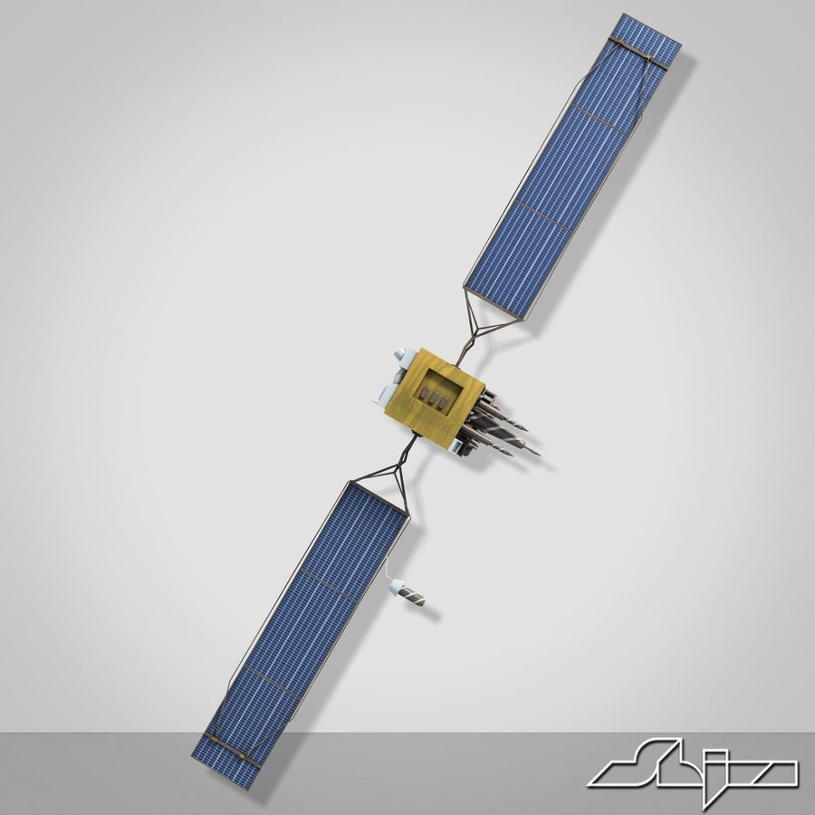 Satellite 2 royalty-free 3d model - Preview no. 5