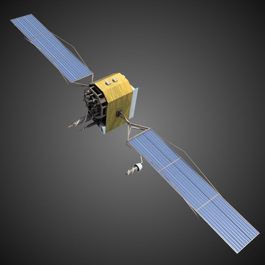 Satellite 2 royalty-free 3d model - Preview no. 2