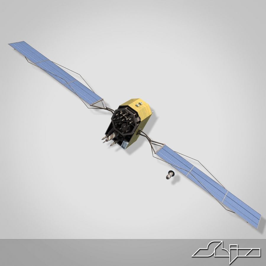 Satellite 2 royalty-free 3d model - Preview no. 3