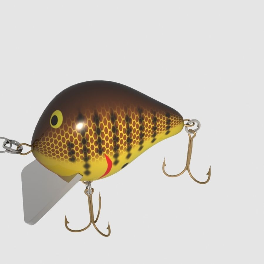 Bagley_Balsa B Lure royalty-free 3d model - Preview no. 3