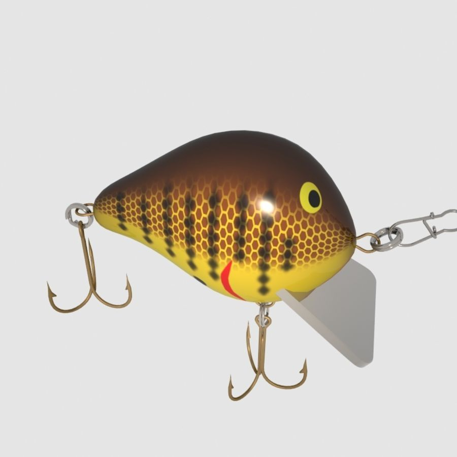 Bagley_Balsa B Lure royalty-free 3d model - Preview no. 8