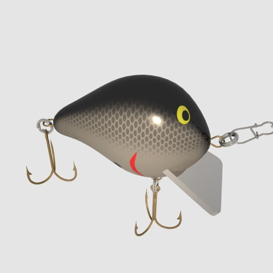 Bagley_Balsa B Lure royalty-free 3d model - Preview no. 4
