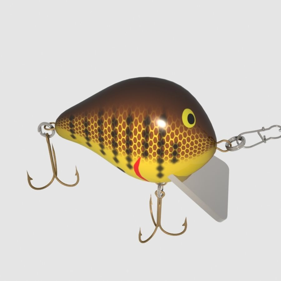 Bagley_Balsa B Lure royalty-free 3d model - Preview no. 2