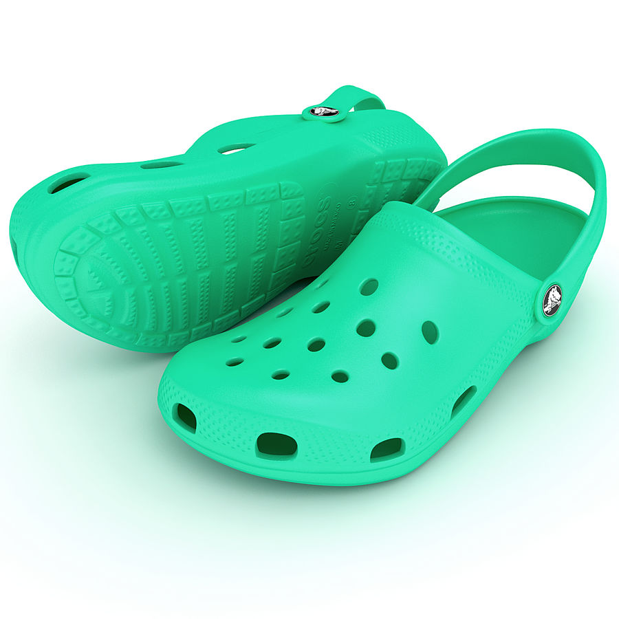 Crocs Shoes, Sandals, & Clogs royalty-free 3d model - Preview no. 2
