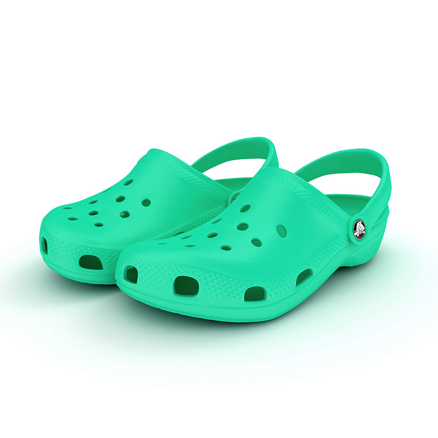 Crocs Shoes, Sandals, & Clogs royalty-free 3d model - Preview no. 4