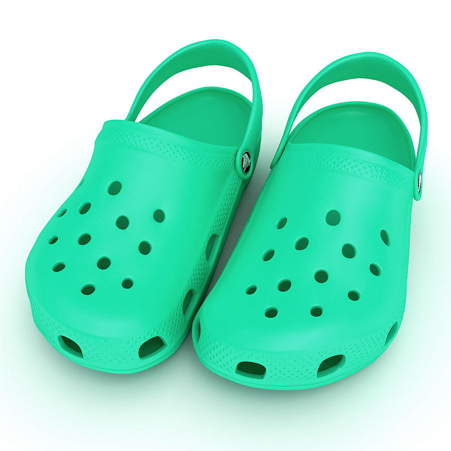 Crocs Shoes, Sandals, & Clogs royalty-free 3d model - Preview no. 8
