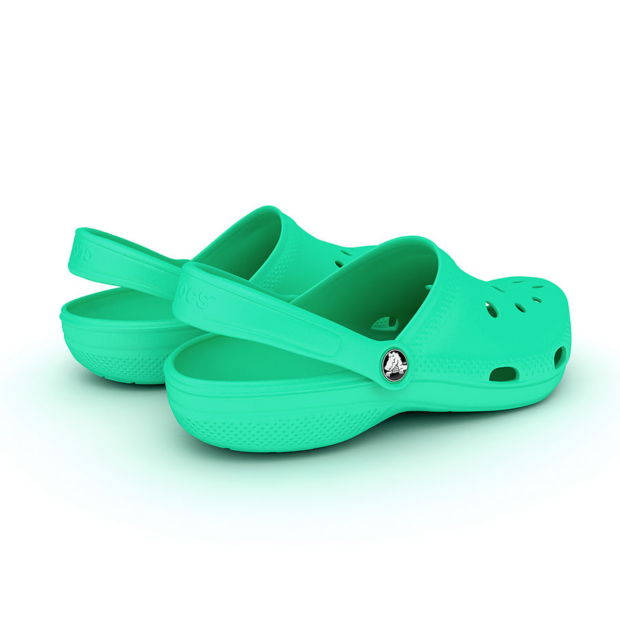 Crocs Shoes, Sandals, & Clogs royalty-free 3d model - Preview no. 10