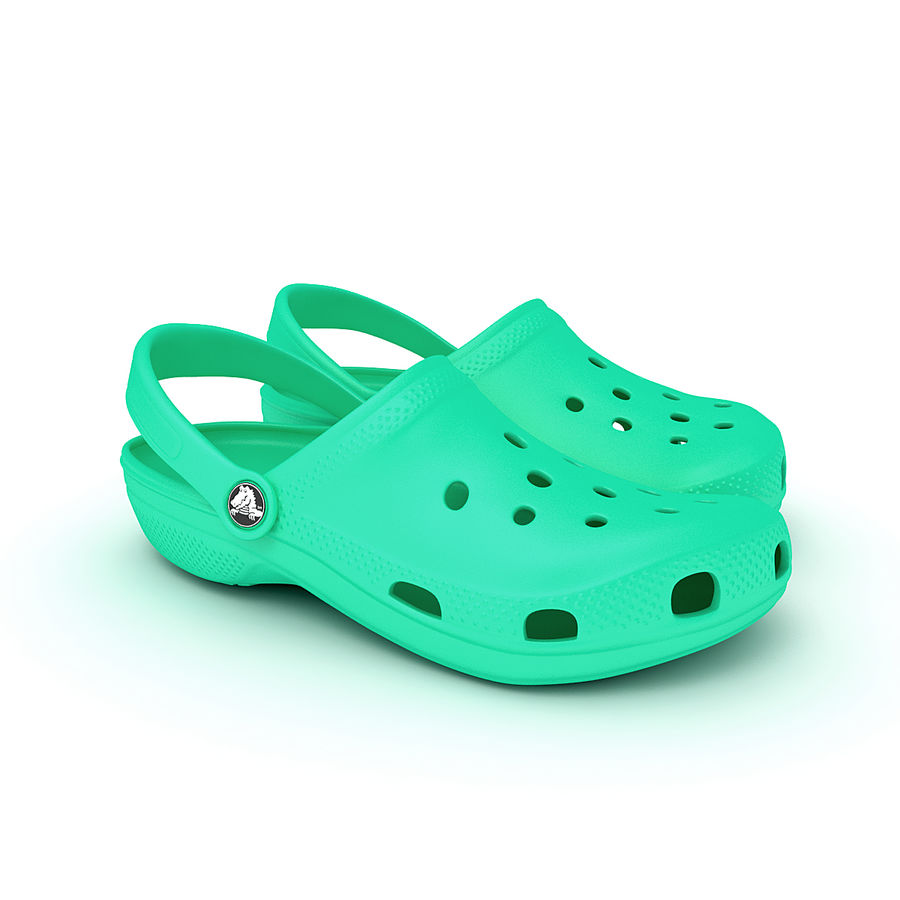 Crocs Shoes, Sandals, & Clogs royalty-free 3d model - Preview no. 7
