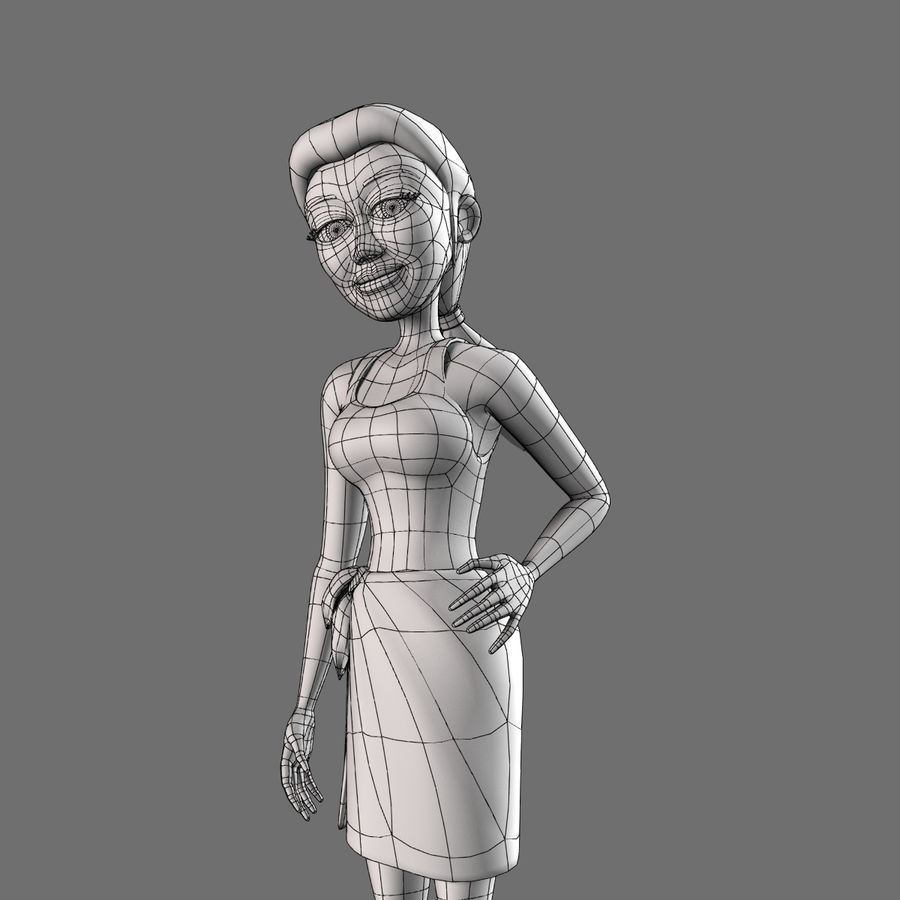 Female Character royalty-free 3d model - Preview no. 7