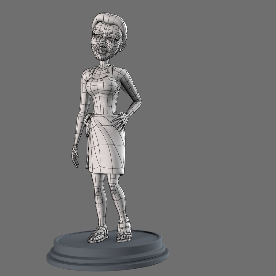 Female Character royalty-free 3d model - Preview no. 11