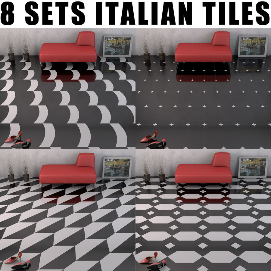 Floor tiles royalty-free 3d model - Preview no. 1