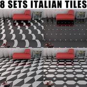 床のタイル 3d model