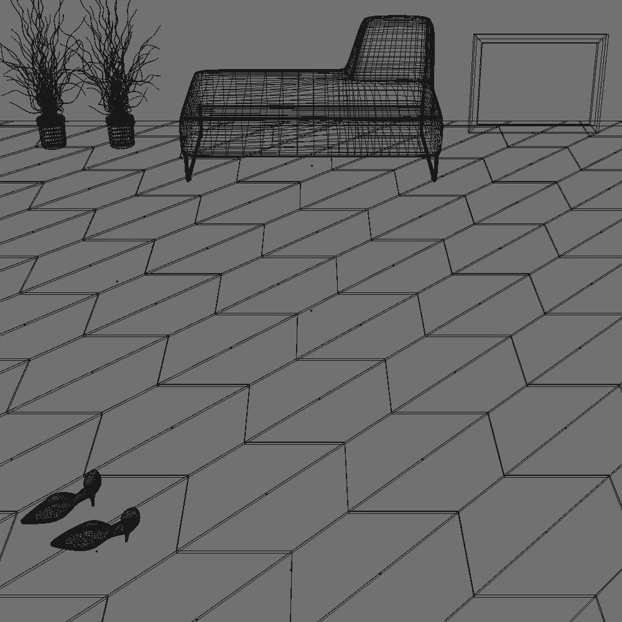 Floor tiles royalty-free 3d model - Preview no. 3