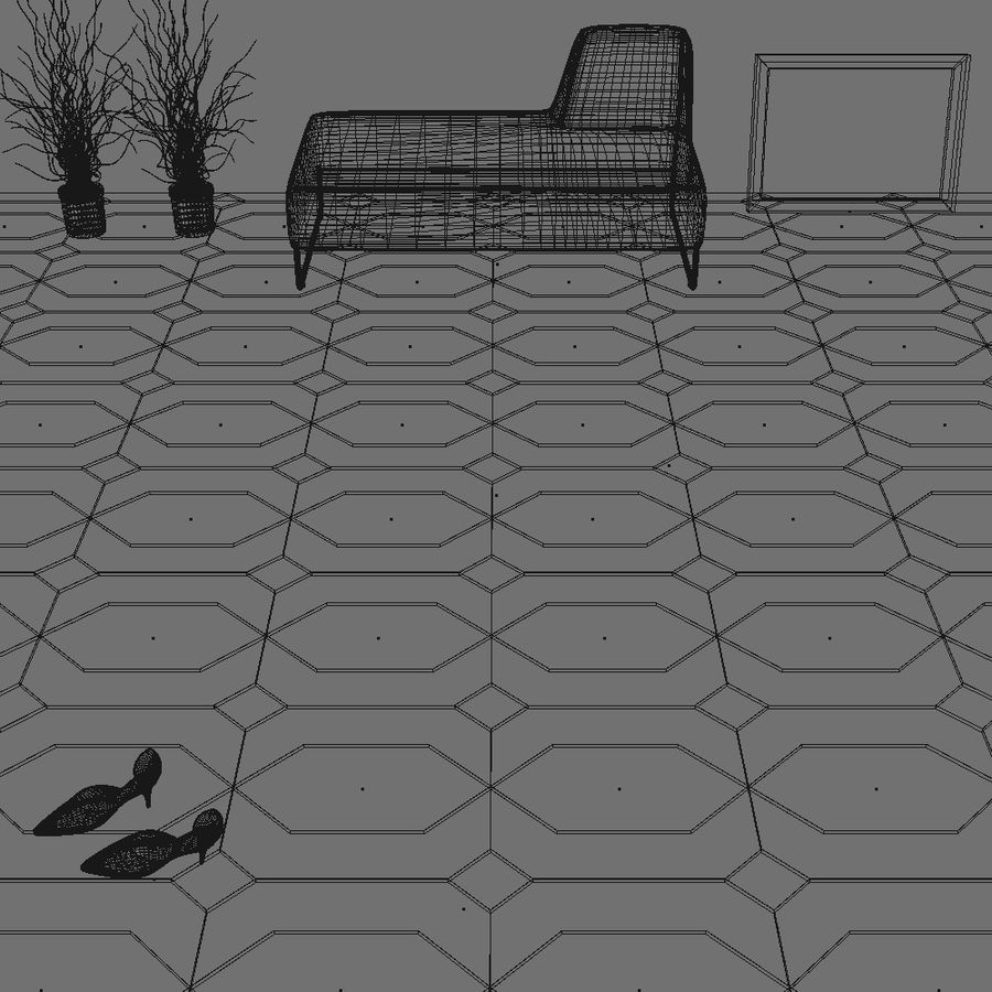 Floor tiles royalty-free 3d model - Preview no. 15