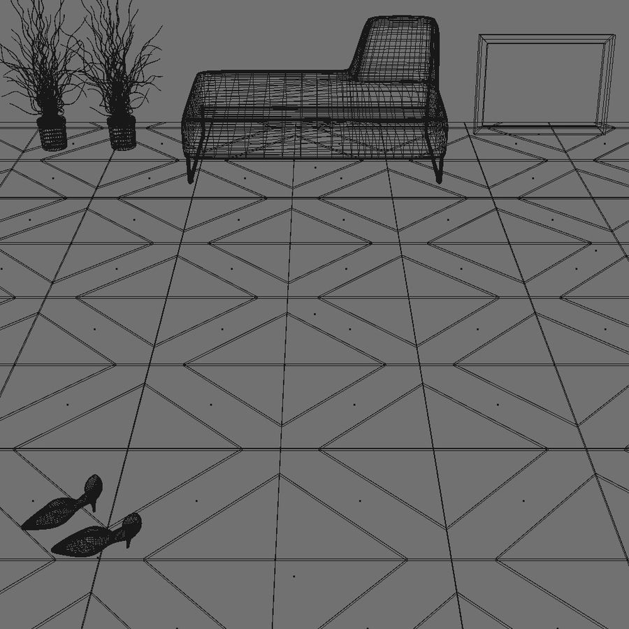 Floor tiles royalty-free 3d model - Preview no. 9