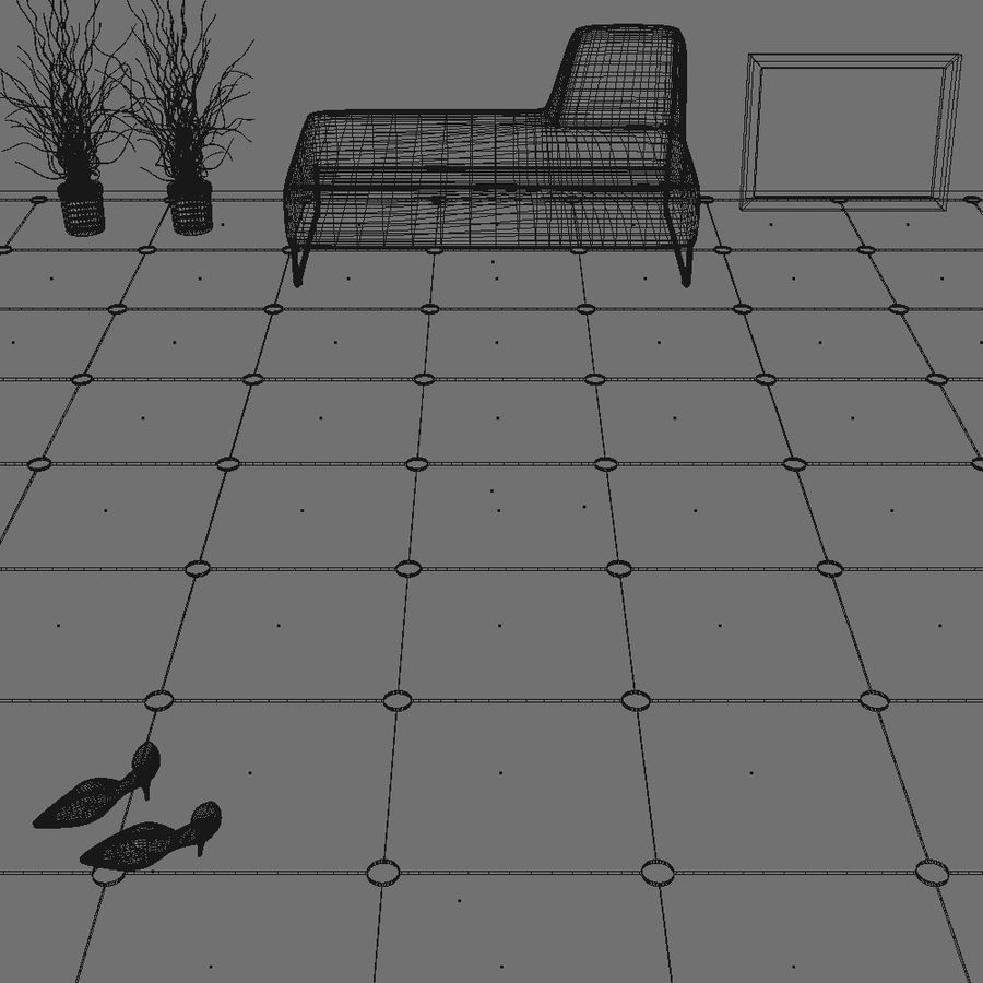 Floor tiles royalty-free 3d model - Preview no. 13