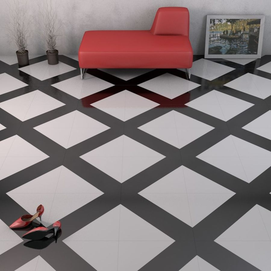 Floor tiles royalty-free 3d model - Preview no. 8