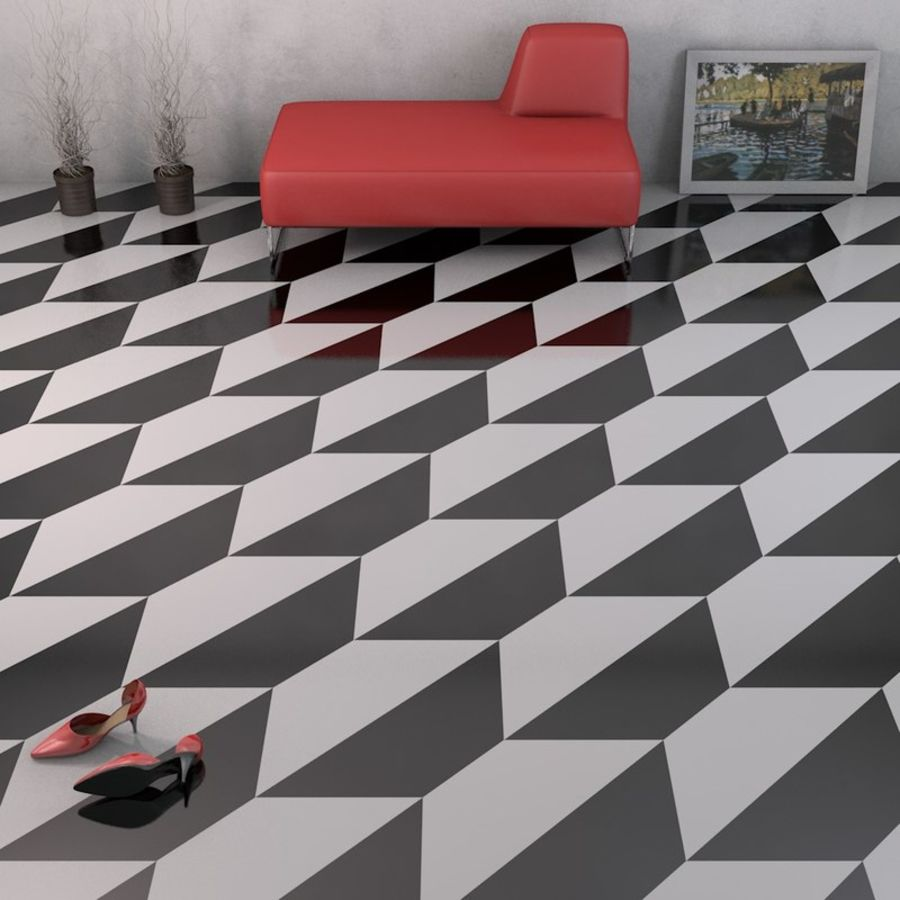 Floor tiles royalty-free 3d model - Preview no. 2