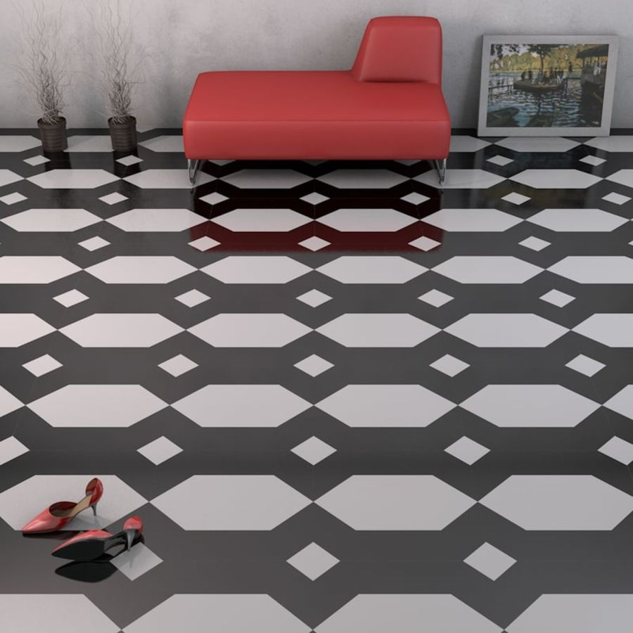 Floor tiles royalty-free 3d model - Preview no. 14