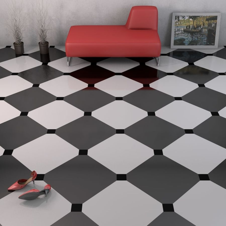 Floor tiles royalty-free 3d model - Preview no. 10