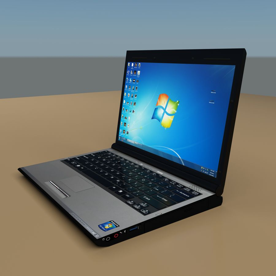 Laptop royalty-free 3d model - Preview no. 3