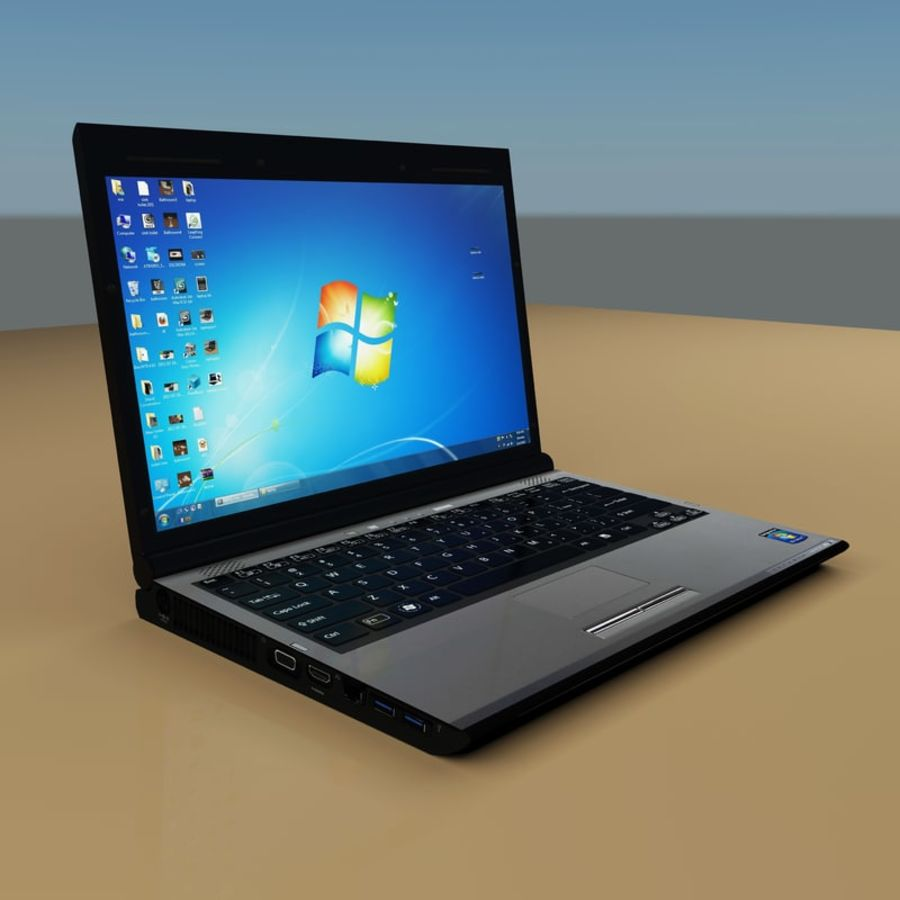 Laptop royalty-free 3d model - Preview no. 2