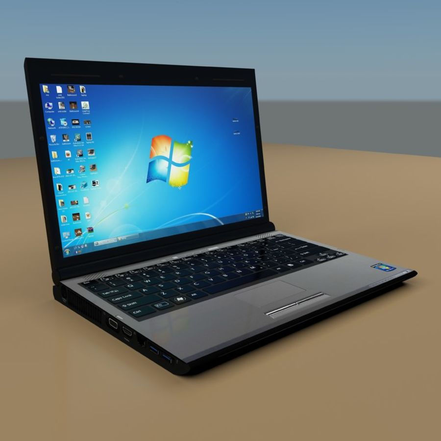 Laptop royalty-free 3d model - Preview no. 4