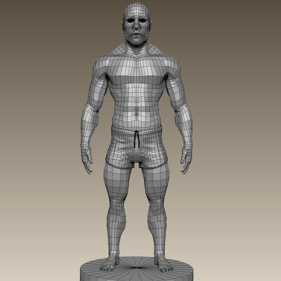 Athletic Man Zbrush Sculpt royalty-free 3d model - Preview no. 15